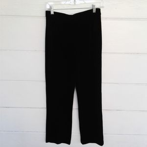 Chico's Black Velour Pants Casual Straight Leg 1 M